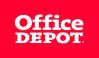 Logo - Office Depot (Stacked - White on Red Rectangle) - JPG