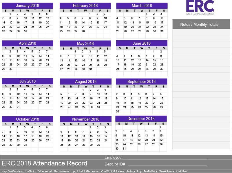 2018 Attendance Tracker