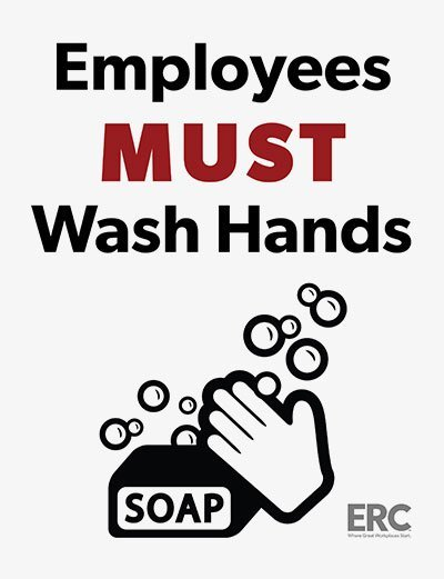 graphic regarding Wash Hands Sign Printable named Personnel Should really Clean Fingers Indication (Free of charge PDF)