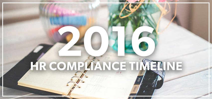 2016 HR Compliance Timeline