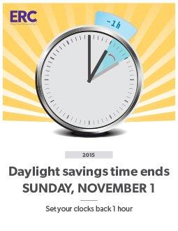 Free Printable Daylight Savings Time Change Poster: November 1, 2015